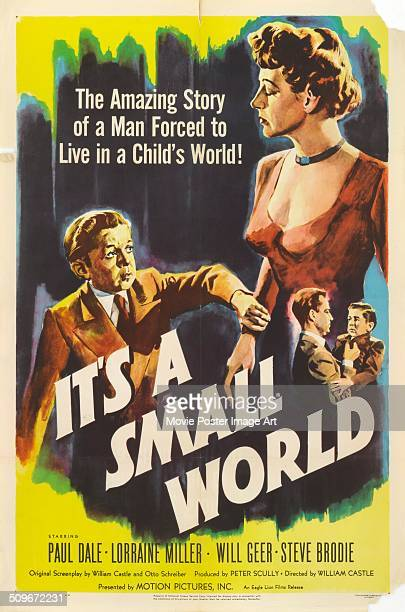 A poster for the movie 'It's A Small World' starring Paul Dale 1950