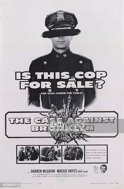 A poster for the movie 'The Case Against Brooklyn' which deals with corruption in the NYPD 1958