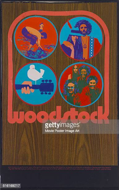 A poster for the movie 'Woodstock' chronicling the legendary 1969 music festival 1970