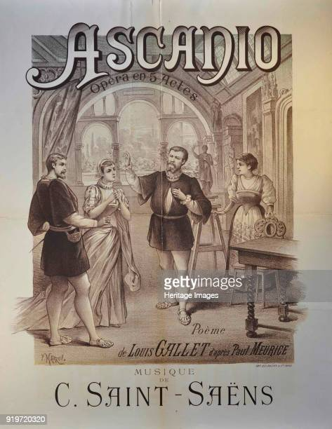 Poster for the Opera Ascanio by Camille SaintSaëns 1890 Found in the Collection of Académie de France à Rome Villa Médicis