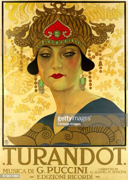 Poster for the opera Turandot at the Teatro alla Scala, 1926. Found in the Collection of Museo Teatrale alla Scala.