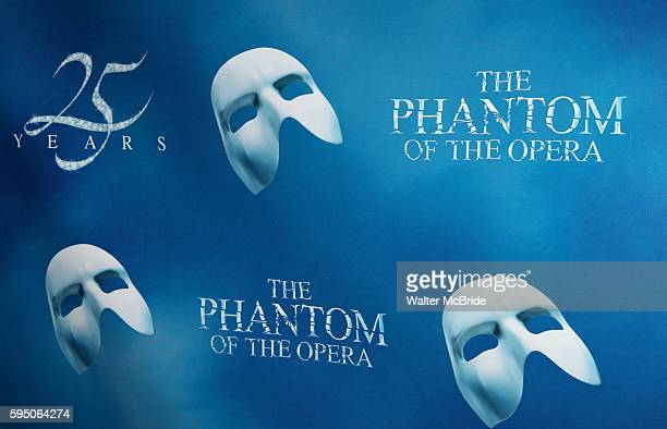 Poster for the 'Phantom of the Opera' - 25 Years on Broadway Gala Performance at the Majestic Theatre in New York City on 1/26/2013