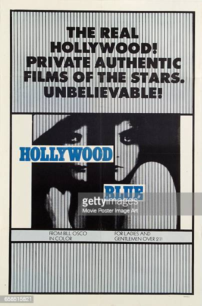 Image contains suggestive contentA poster for the pornographic documentary film 'Hollywood Blue' from Bill Osco Productions 1970