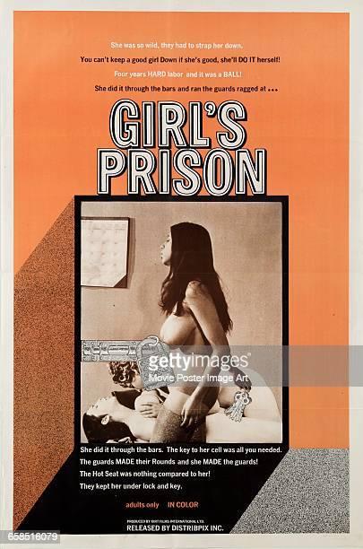 Image contains suggestive contentA poster for the pornographic film 'Girl's Prison' 1970