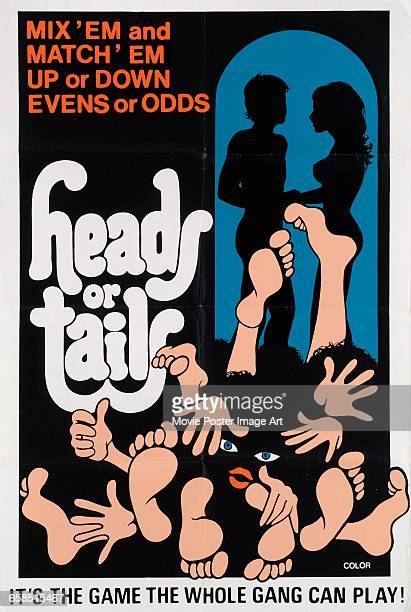 Image contains suggestive contentA poster for the pornographic film 'Heads or Tails' 1973