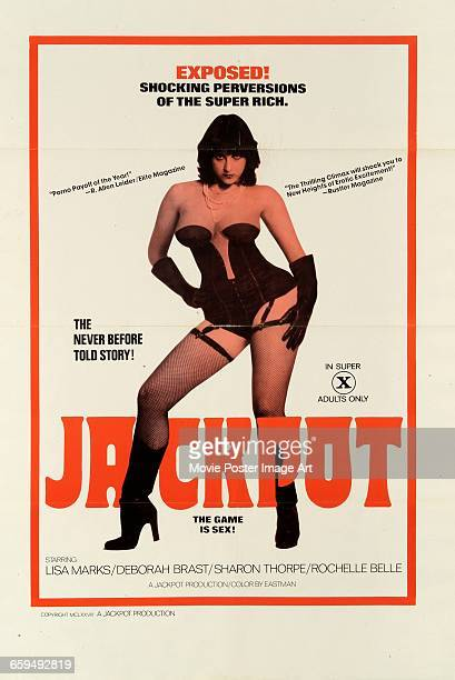 Image contains suggestive contentA poster for the pornographic film 'Jackpot' aka 'The Venus Trap' 1974