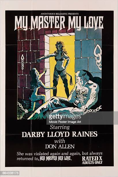 Image contains suggestive contentA poster for the pornographic film 'My Master My Love' starring Darby Lloyd Rains 1975