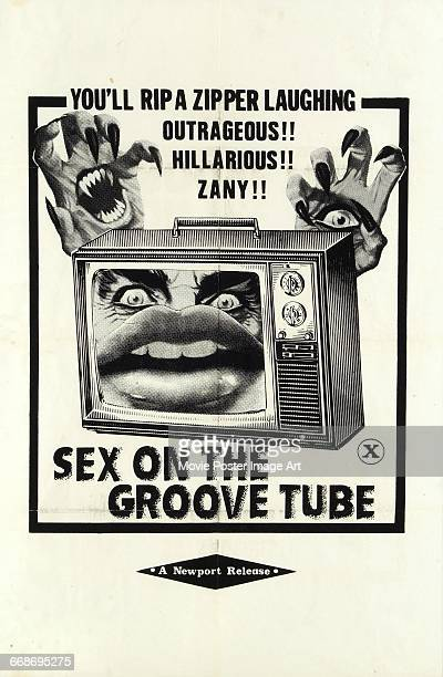Image contains suggestive contentA poster for the pornographic film 'Sex on the Groove Tube' aka 'The Case of the Smiling Stiffs' or 'The Case of the...