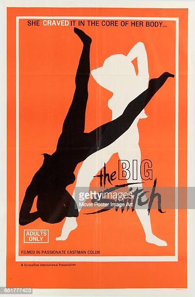 Image contains suggestive contentA poster for the pornographic film 'The Big Switch' a ScreenCom International production with the tagline 'She...