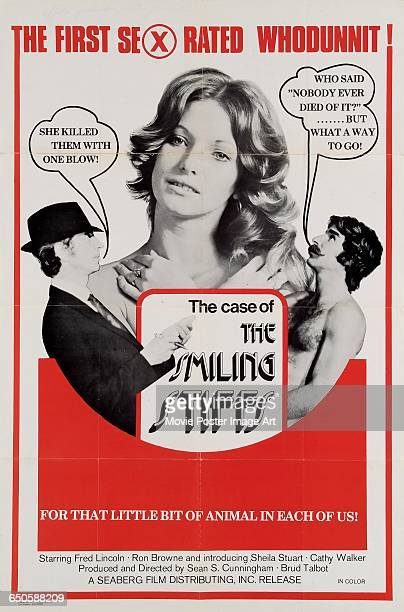 Image contains suggestive contentA poster for the pornographic film 'The Case of the Full Moon Murders' aka 'The Case of the Smiling Stiffs starring...
