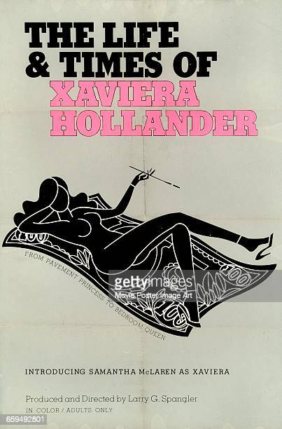 Image contains suggestive contentA poster for the pornographic film 'The Life and Times of the Happy Hooker' aka 'The Life and Times of Xaviera...
