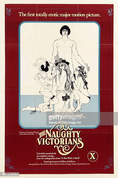 Image contains suggestive contentA poster for the pornographic film 'The Naughty Victorians An Erotic Tale of a Maiden's Revenge' based on the...