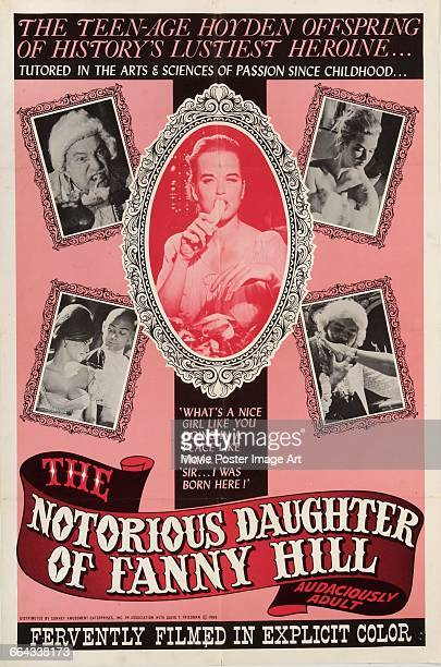 Image contains suggestive contentA poster for the pornographic film 'The Notorious Daughter of Fanny Hill' inspired by the 18th century erotic novel...