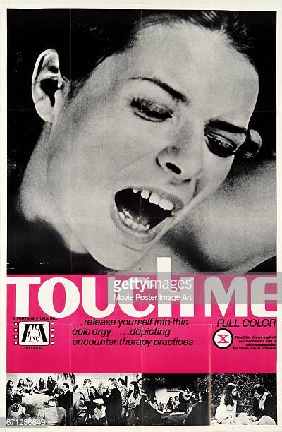 Image contains suggestive contentA poster for the pornographic film 'Touch Me' in which a 'sex therapist' holds an encounter group of people with...