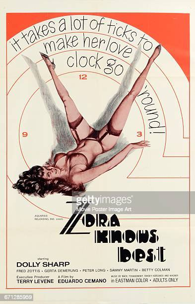 Image contains suggestive contentA poster for the pornographic film 'Zora Knows Best' aka 'The Weirdos and the Oddballs' starring Dolly Sharp and...