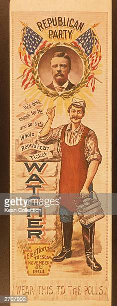 Poster for the Republican presidential candidate, Theodore Roosevelt's election on November 8th, 1904.