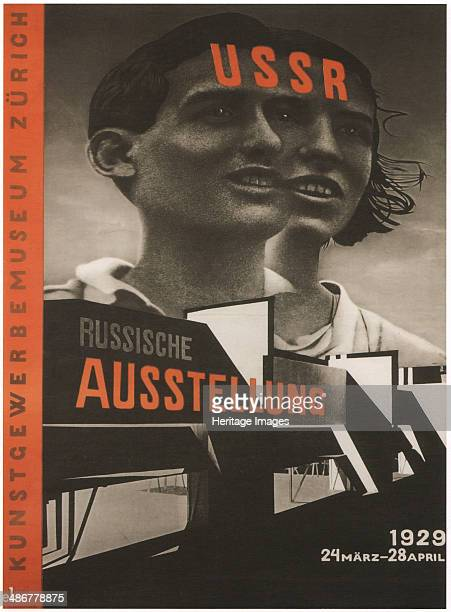 Poster for the Russian Exhibition in Zurich 1929 Artist Lissitzky El