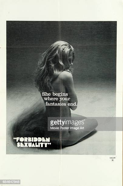 Image contains suggestive contentA poster for the Swedish documentary film 'Forbidden Sexuality' dealing with those aspects of human sexual behaviour...