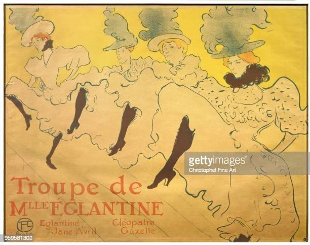 Poster for the troop of Mademoiselle Eglantine 1896, Toulouse Lautrec Henri De , Brussels Ixelles Museum, France.