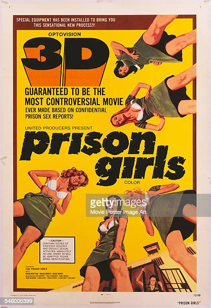 A poster for the United Producers exploitation film 'Prison Girls' in 3D 1972