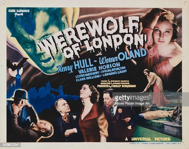 A poster for the US release of Stuart Walker's 1935 Horror film 'Werewolf Of London' The film stars Henry Hull Valerie Hobson and Warner Oland