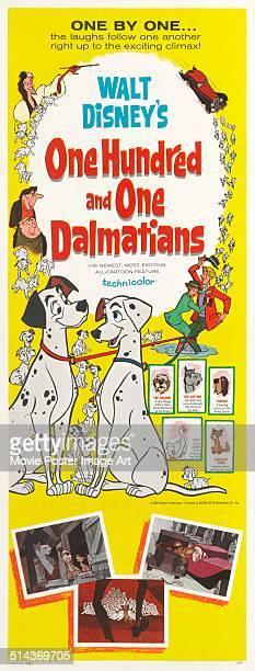 A poster for the Walt Disney movie '101 Dalmatians' 1961