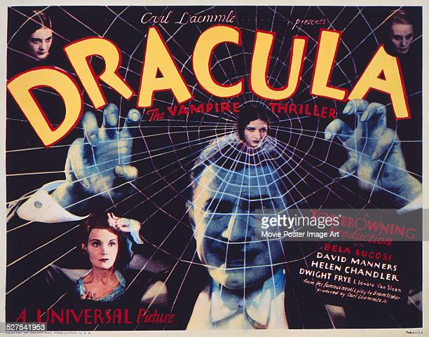 A poster for Tod Browning's 1931 horror 'Dracula' starring Bela Lugosi
