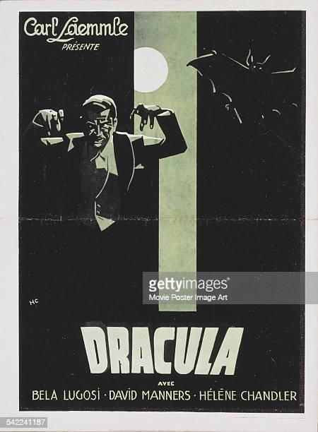 Poster for Tod Browning's 1931 horror film 'Dracula' starring Bela Lugosi.