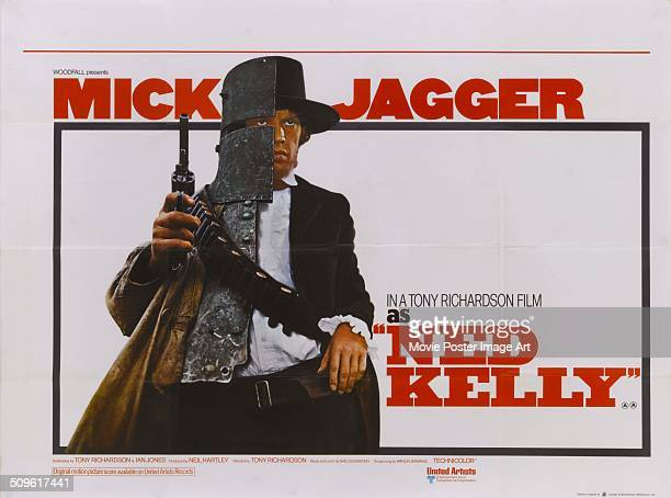 A poster for Tony Richardson's 1970 biopic 'Ned Kelly' starring Mick Jagger