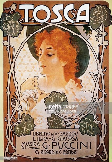 Poster for Tosca, opera by Giacomo Puccini . Lucca, Casa Di Giacomo Puccini