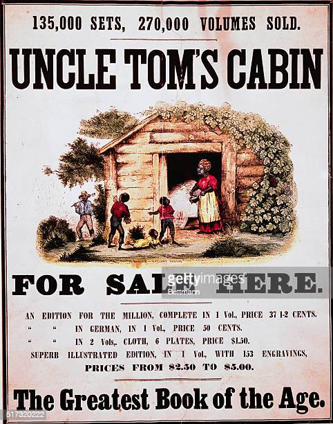 A 1859 poster for Uncle Tom's Cabin by Harriet Beecher Stowe