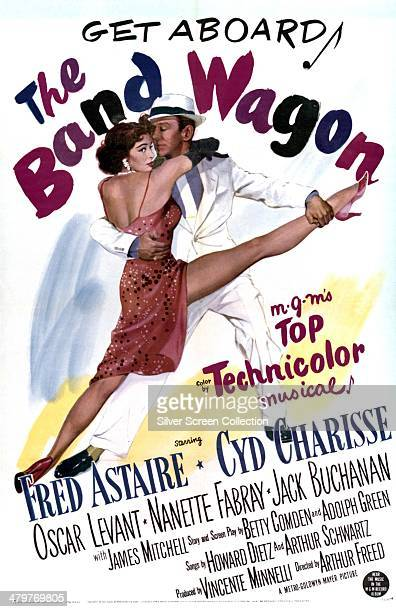 A poster for Vincente Minnelli's 1953 musical comedy 'The Band Wagon' starring Fred Astaire and Cyd Charisse