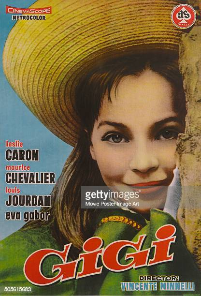 A poster for Vincente Minnelli's 1958 comedy 'Gigi' starring Leslie Caron