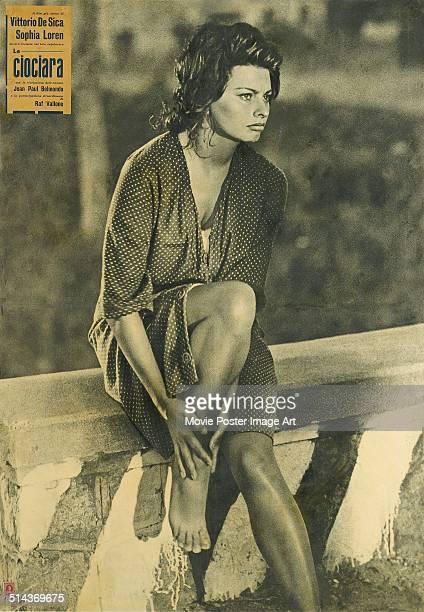 A poster for Vittorio De Sica's 1960 drama 'Two Women' starring Sophia Loren