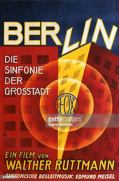 A poster for Walther Ruttmann's documentary film 'Berlin � Die Sinfonie Der Grosstadt' 1927