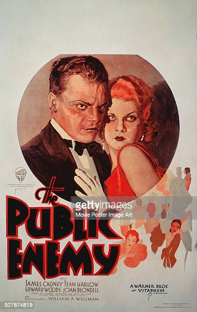 A poster for William A Wellman's 1931 crime film 'The Public Enemy' starring James Cagney and Jean Harlow