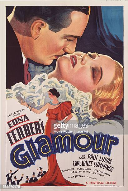 A poster for William Wyler's 1934 drama 'Glamour' starring Paul Lukas and Constance Cummings