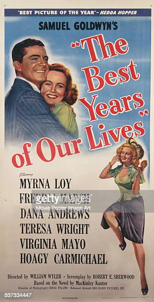 A poster for William Wyler's 1946 drama 'The Best Years of Our Lives' starring Dana Andrews