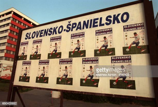 Poster for World Cup match between Slovakia and Spain