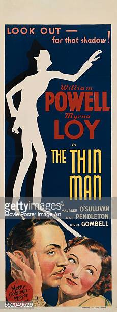 A poster for WS Van Dyke's 1934 comedy 'The Thin Man' starring William Powell and Myrna Loy