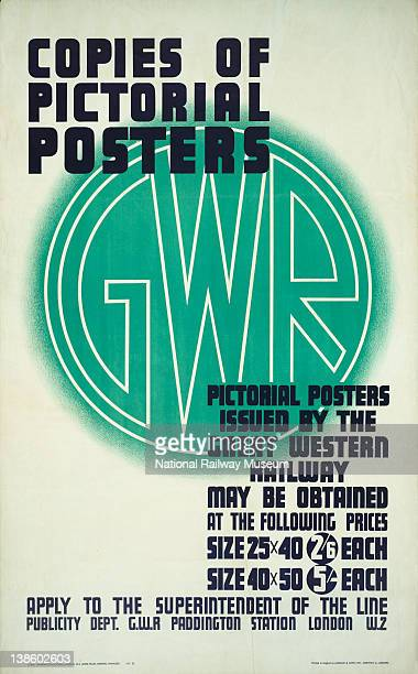 Poster Great Western Railway Copies of Pictorial Posters