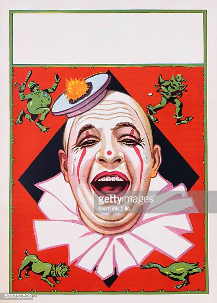 Poster of Clowns with Dog and Goose