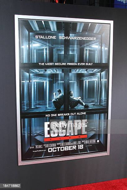 Poster of 'Escape Plan' New York Premiere at Regal EWalk on October 15 2013 in New York City