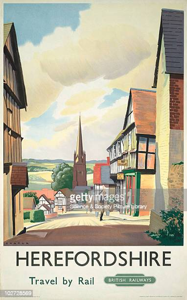 Poster of Herefordshire c1980 Poster British Railways Herefordshire Travel by Rail Ledbury by Paul Chater