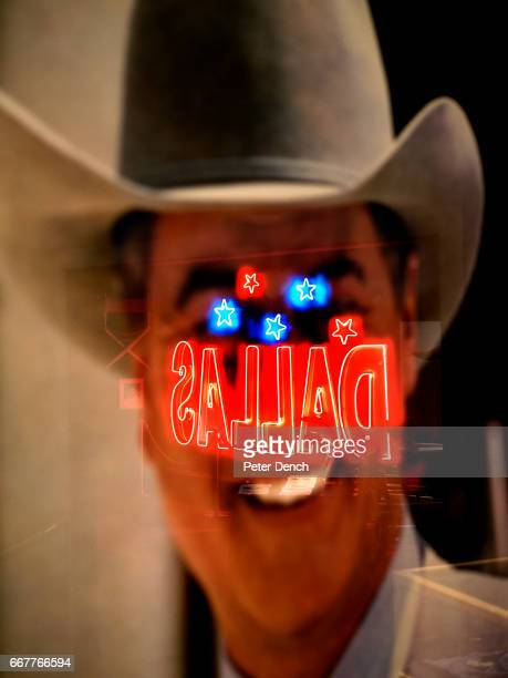 A poster of J R Ewing in the museum at Southfork ranch Dallas was a longrunning American prime time television soap opera that aired from April 2 to...