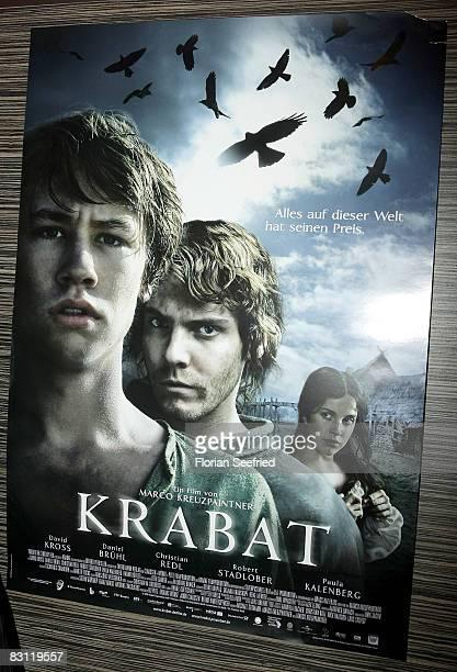 "Poster of Krabat premiere of ""Krabat"" at the CineStar on October 3, 2008 in Berlin, Germany"