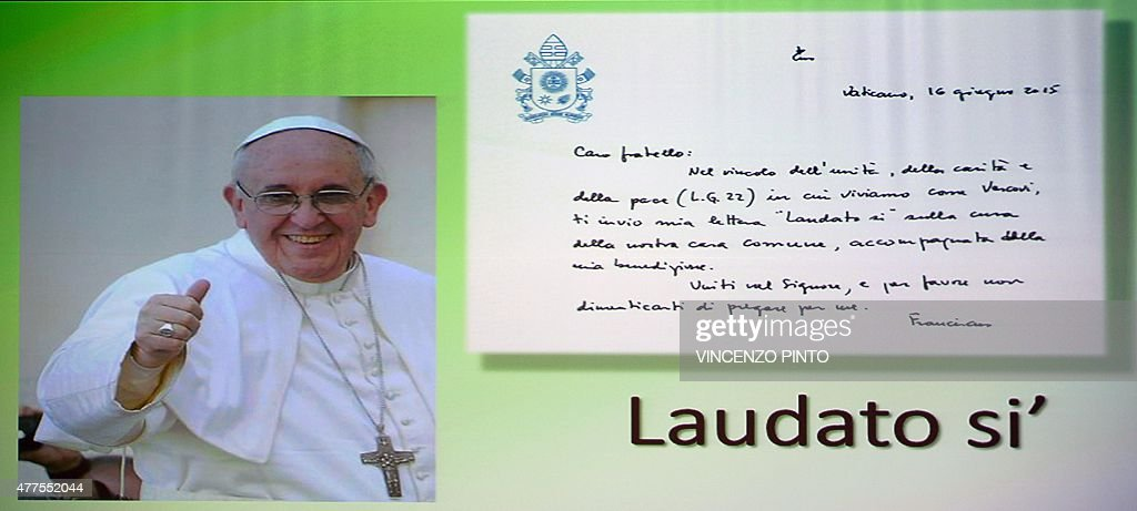 VATICAN-POPE-ENCYCLICAL : News Photo