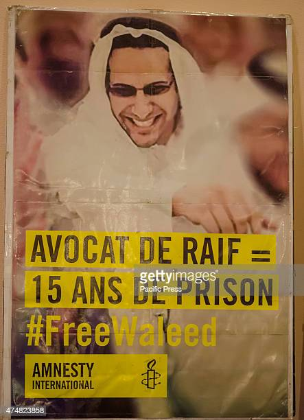 A poster of Raif Badawiwas arrested in 2012 on a charge of insulting Islam through electronic channels and brought to court on several chargesHe was...