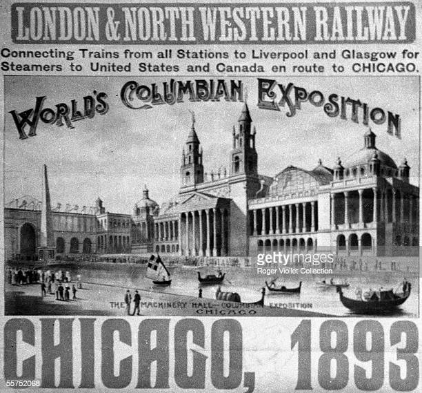 Poster of Stafford for the World fair of Chicago representating the engines hall 1893