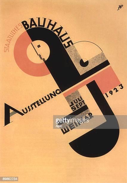 Poster of the exhibition of the Bauhaus in Weimar in 1923 by Joost Schmidt